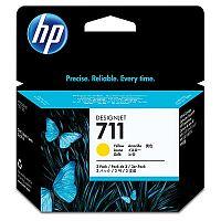Картридж струйный HP 711 CZ136A желтый x3упак. (29мл) для HP DJ T120/T520