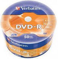 Диск DVD-R Verbatim 4.7Gb 16x bulk (50шт) (43788)