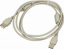 Кабель-удлинитель USB2.0-AM-AF-1.8M-MG USB A(m) USB A(f) 1.8м феррит.кольца серый