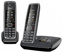 Р/Телефон Dect Gigaset C530A DUO RUS черный (труб. в компл.:2шт) автооветчик АОН