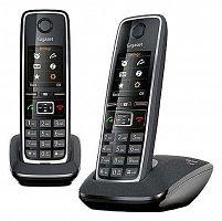 Р/Телефон Dect Gigaset C530 DUO RUS черный (труб. в компл.:2шт) АОН