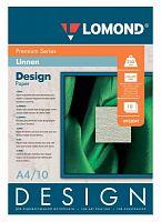 Фотобумага Lomond 933041 A4/230г/м2/10л./белый матовое лён для струйной печати