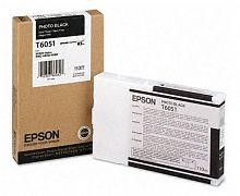 Картридж струйный Epson T6051 C13T605100 фото черный (110мл) для Epson St Pro 4880