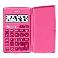 Калькулятор карманный Casio LC-401LV-PK розовый 8-разр.