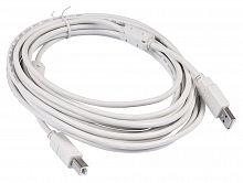 Кабель Buro USB2.0-AM/BM-5M-MG USB A(m) USB B(m) 5м феррит.кольца