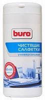 Салфетки Buro BU-Tmix универсальные туба 65шт влажных + 65шт сухих