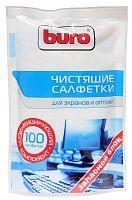 Салфетки Buro BU-Zscreen для экранов мониторов/плазменных/ЖК телевизоров/ноутбуков мягкая упаковка 100шт влажных