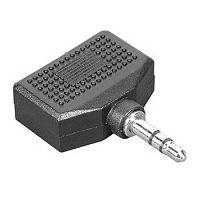 Адаптер аудио Hama H-43353 Jack 3.5 (m)/2xJack 3.5 (f) черный (00043353)
