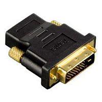 Переходник Hama h-34035 00034035 DVI-D (m) HDMI (f) черный