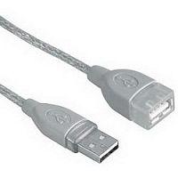Кабель-удлинитель Hama H-45040 00045040 USB A(m) USB A(f) 3м серый