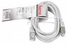 Патч-корд Hama H-20140 STP cat5E 1.5м серый RJ-45 (m)-RJ-45 (m)