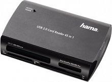 Устройство чтения карт памяти USB2.0 Hama H-49009 серебристый