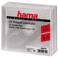 Коробка Hama на 2CD/DVD H-44752 прозрачный (упак.:5шт)