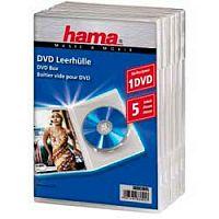 Коробка Hama на 1CD/DVD H-83895 Jewel Case прозрачный (упак.:5шт)