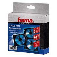 Конверт Hama на 2CD/DVD H-84102 черный (упак.:50шт)