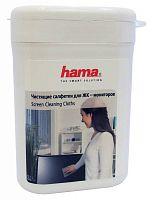 Салфетки Hama R1084187 для экранов мониторов/плазменных/ЖК телевизоров/ноутбуков малая туба 100шт влажных