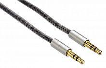 Кабель аудио Hama H-80868 Jack 3.5 (m)/Jack 3.5 (m) 0.5м. Позолоченные контакты серебристый (00080868)