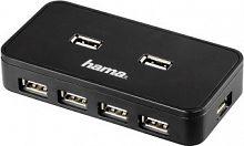 Разветвитель USB 2.0 Hama Active1:7 7порт. черный (00039859)