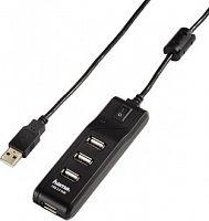 Разветвитель USB 2.0 Hama Switch 4порт. черный (00054590)