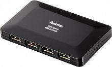 Разветвитель USB 2.0 Hama Active1:4 4порт. черный (00078472)