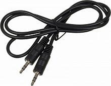 Кабель аудио Ningbo Jack 3.5 (m)/Jack 3.5 (m) 1м. черный (JAAC002-1)