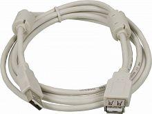 Кабель-удлинитель Ningbo USB2.0-AM/AF-1.8M-MG USB A(m) USB A(f) 1.8м феррит.кольца