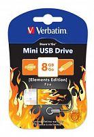 Флеш Диск Verbatim 8Gb Store n Go Mini Elements Fire 98158 USB2.0 оранжевый/рисунок