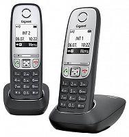 Р/Телефон Dect Gigaset A415 DUO RUS черный (труб. в компл.:2шт) АОН