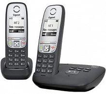 Р/Телефон Dect Gigaset A415A DUO RUS черный (труб. в компл.:2шт) автооветчик АОН