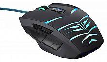 Мышь Oklick 745G LEGACY черный/голубой оптическая (2400dpi) USB игровая (6but)