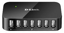 Разветвитель USB 2.0 D-Link DUB-H7 7порт. черный (DUB-H7/B/D)