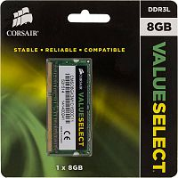 Память DDR3L 8Gb 1600MHz Corsair CMSO8GX3M1C1600C11 RTL PC3-12800 CL11 SO-DIMM 204-pin 1.35В