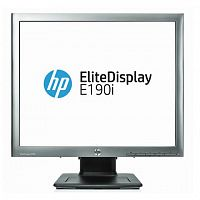 "Монитор HP 18.9"" EliteDisplay E190i серебристый IPS LED 5:4 DVI матовая 250cd 178гр/178гр 1280x1024 D-Sub DisplayPort HD READY USB 4.9кг"