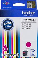 Картридж струйный Brother LC525XLM пурпурный (1300стр.) для Brother DCP-J100/J105/J200