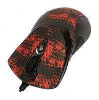 Мышь A4 XL-740K черный/красный лазерная (3600dpi) USB игровая (6but)