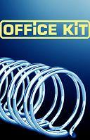 Пружины для переплета металлические Office Kit d=14.3мм 100-120лист A4 черный (100шт) OKPM916B
