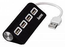 Разветвитель USB 2.0 Hama TopSide 4порт. черный (00012177)