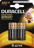 Батарея Duracell Basic LR03-6BL MN2400 AAA (6шт)