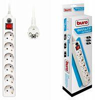 Сетевой фильтр Buro 600SH-3-W 3м (6 розеток) белый (коробка)