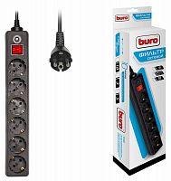Сетевой фильтр Buro 600SH-5-B 5м (6 розеток) черный (коробка)