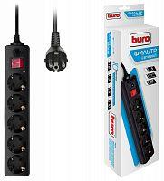 Сетевой фильтр Buro 500SH-3-B 3м (5 розеток) черный (коробка)