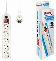 Сетевой фильтр Buro 500SH-5-W 5м (5 розеток) белый (коробка)