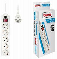 Сетевой фильтр Buro 500SH-10-W 10м (5 розеток) белый (коробка)
