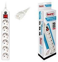 Сетевой фильтр Buro 600SH-1.8-UPS-W 1.8м (6 розеток) белый (коробка)