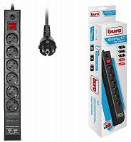 Сетевой фильтр Buro BU-SP1.8_USB_2A-B 1.8м (6 розеток) черный (коробка)