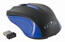Мышь Оклик 485MW черный/синий оптическая (1200dpi) беспроводная USB (2but)