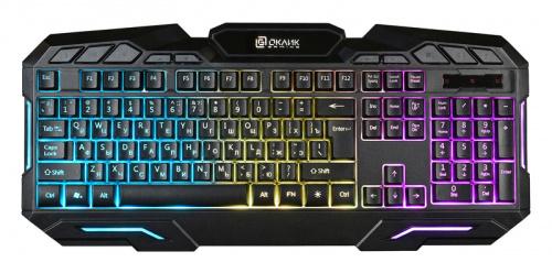Клавиатура Oklick 700G Dynasty черный USB Multimedia Gamer LED