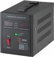 Стабилизатор напряжения Эра СНПТ-1000-Ц электронный однофазный черный