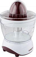 Соковыжималка цитрусовая Scarlett SC-JE50C06 25Вт рез.сок.:700мл. белый/красный