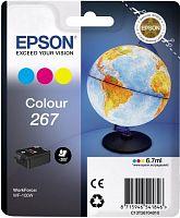 Картридж струйный Epson T267 C13T26704010 3цв. (6.7мл) для Epson WF-100W